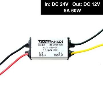 コンバータ DC 24V → 12V 5A 60W 直流電圧 変換器