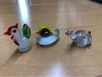 ガラス細工★鳥3個 セット