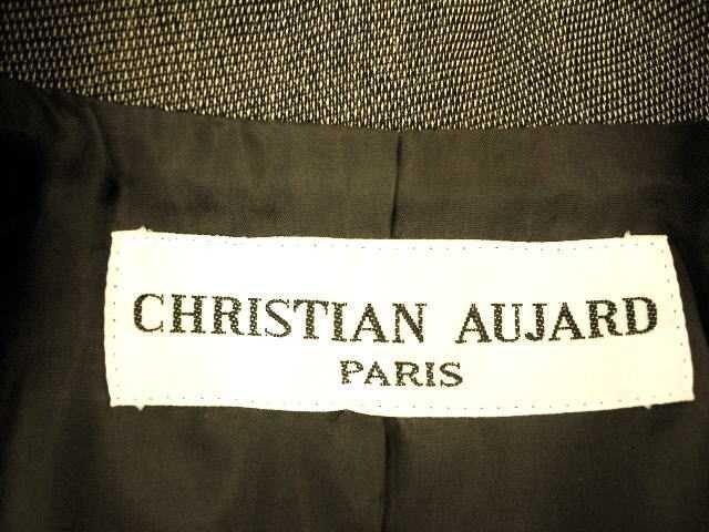 【クリスチャンオジャール】ダークブラウンのロングジャケット < ブランドの