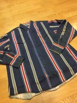 Wrangler ★ラングラー  ウェスタンシャツ  ストライプ sizeXL  used