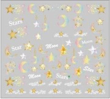 3Dラバー♪グラデーションNailシール★ムーン&Star☆