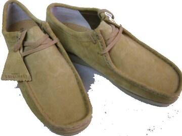 クラークス ワラビー新品ローカット ブーツ26128360uk7.5
