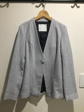 セシルマクビー ノーカラー ジャケット  アウター コート 長袖
