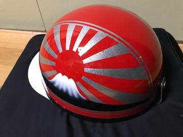 ラメ 富士日章 コルク半 ヘルメット 三段シート BEET ゼファー