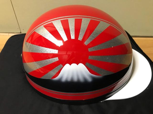ラメ 富士日章 コルク半 ヘルメット 三段シート BEET ゼファー < 自動車/バイク