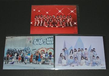 SKE48 生写真3枚まとめ売り 選抜集合写真