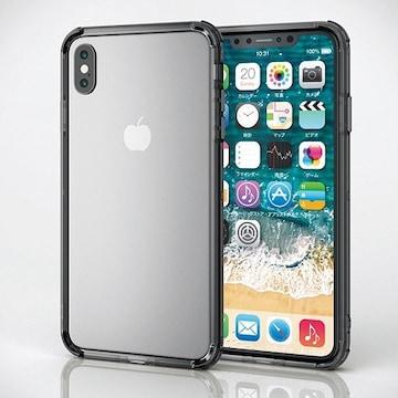 エレコム iPhoneXSMax ブラック┃PM-A18DHVBBK