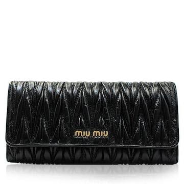 ミュウミュウ 5m1109-f0002-nero 長財布 ブラック