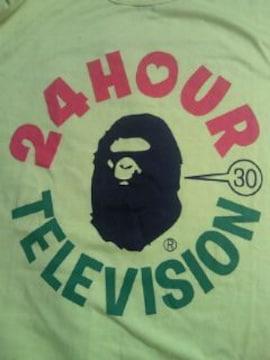 日テレ APE エイプ NIGO デザイン 24時間テレビ チャリティー Tシャツ イエロー Mサイズ