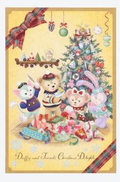 ディズニー★ダッフィー & フレンズ クリスマス ポストカード★