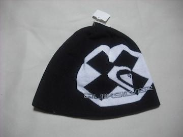 mb702 男 QUIKSILVER クイックシルバー ニット帽 ビーニー 黒