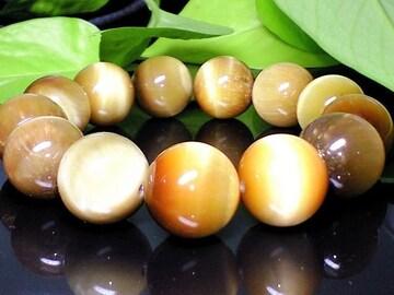 大特価天然石高級ゴールドタイガーアイ金色虎目16ミリ数珠