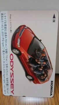 ホンダ 旧型 オデッセイ 非売品 テレホンカード500円分 映画 アダムスファミリー 新品
