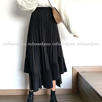 F-LL大きいサイズ/プリーツ切替スカート