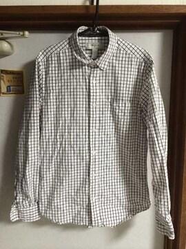 フォーエバー21 メンズ シャツ 美品 チェック ホワイト 長袖 XS