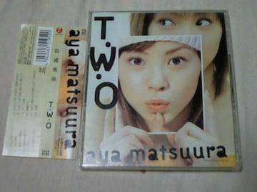 CD 松浦亜弥 アルバム T・W・O TWO