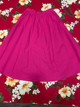 GU☆可愛い☆ショッキングピンクカラー☆フレアスカート☆