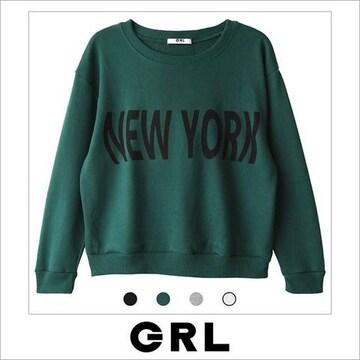 グレイル★NEWYORK ロゴ スエット トップス