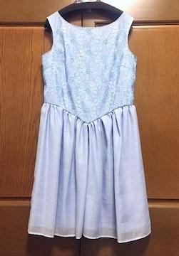 組曲☆サンフラワー ワンピース☆ドレス☆ブルー☆リボン☆2