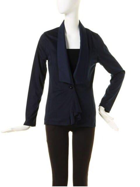 ☆MURUAライトフィットドレープジャケット☆新品タグ付きSNV  < 女性ファッションの