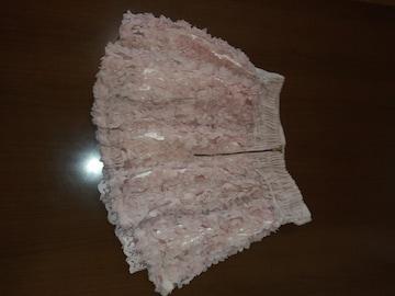 サラサラ ピンク ヒラヒラ ショート パンツ