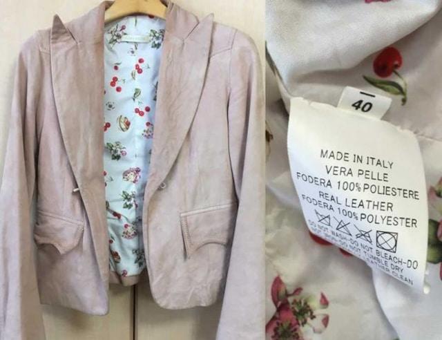 □《FLORA SMITH/フローラ スミス》スエードジャケット ピンク□ < 女性ファッションの