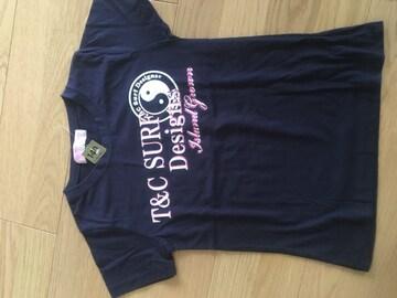 新品タグ140☆T&C surfネイビー半袖Tシャツ