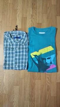 ☆rehacer/レアセルのボタンシャツ&Tシャツ 2枚セット★