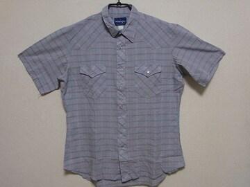 即決USA古着●ラングラーチェックデザインウエスタン半袖シャツ!ビンテージ・アメカジ