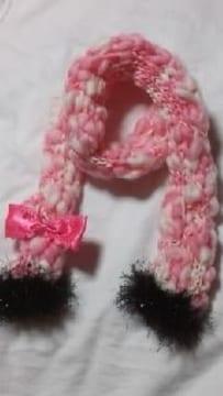 【\500送込処分セール】O新品〓手編み チピギャル系  ピンク