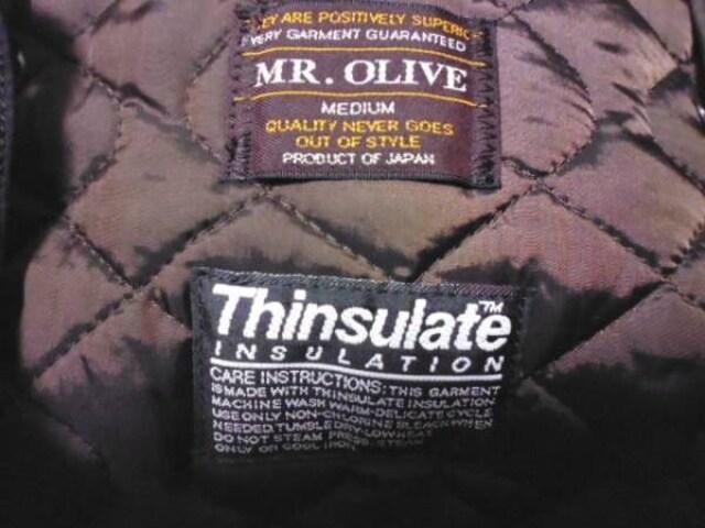 MR.OLIVE フォックスファー シンサレート モッズコート M < 男性ファッションの