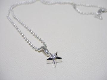 仁尾彫金『プラチナ一つ星ダイヤペンダント』ハンドメイド