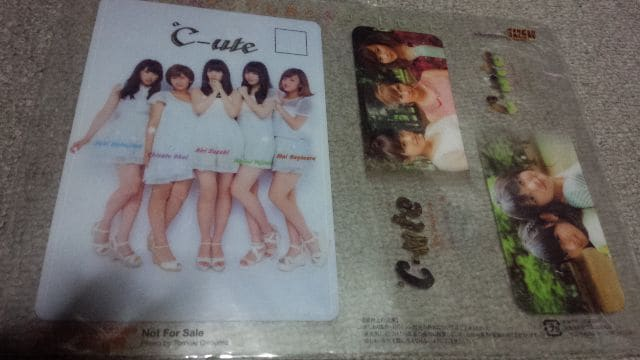 ℃-ute(^^)クリアしおり&カードセット(*^o^*)  < タレントグッズの