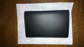 シンプルな黒色牛革手帳カバー  新品未使用