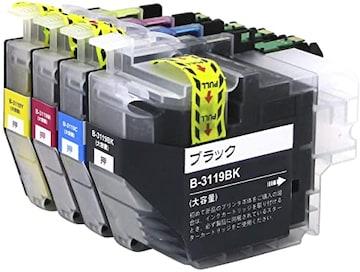 brother 対応 LC3119-4PK 4色セット 大容量 ( BK/C/M/Y) ブラザ