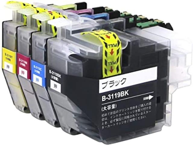 brother 対応 LC3119-4PK 4色セット 大容量 ( BK/C/M/Y) ブラザ  < PC本体/周辺機器の