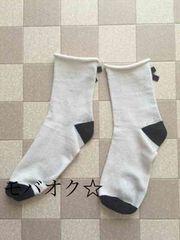 ☆愛用品☆クルー丈のおりぼん付きソックス☆靴下☆難あり☆