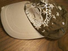ムージョンジョン48★ゾウサン 車ペイントキャップベージュ帽子