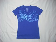 mq526 女 ZOO YORK ズーヨーク 青 Tシャツ Sサイズ