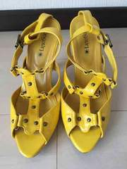Lサイズ/ヒール高12.5cm/黄色