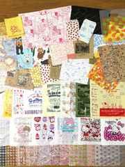 紙&レジ袋など種類いろいろ計150枚セット(いろいろ約90柄)A�@
