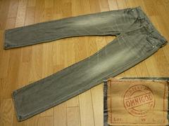 オムニゴッド50022ブラックデニムジーンズ3グレーデニム