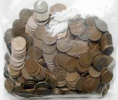 ◆桐1銭青銅貨 500枚セット