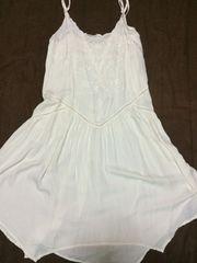 新品定価5400ジーナシス★刺繍ビーズキャミワンピ★裾アシメ