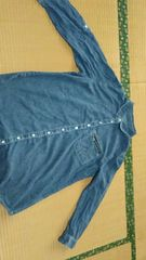 ★ユーズド品★大きいサイズ★デニム風チュニックシャツ★3L