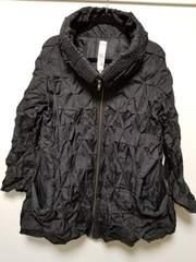 MURUA◆ムルーアくしゅくしゅロング丈ジャケットコート黒F