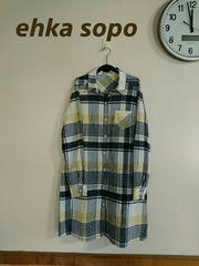 《ehka sopo by SM2》大きいサイズ/爽やかチェック/羽織りOK♪