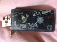 Disneyミッキーマウス&フレンズミッキーマウスのラウンドファスナー長財布