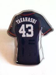 埼玉西武ライオンズ2016 ファンクラブ限定ピンバッチ 埼玉ユニ 43 高橋朋己投手