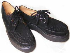 ジョージコックス英国3588新品ブラック スエ−ド 厚底靴uk8